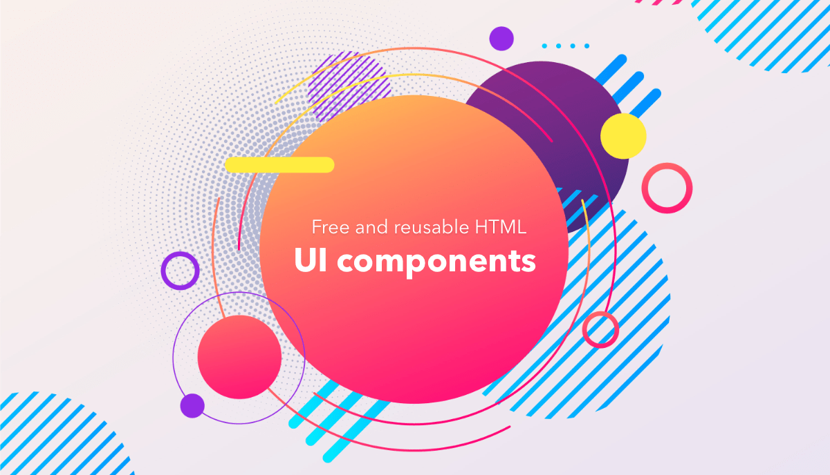 Free and reusable HTML UI Components